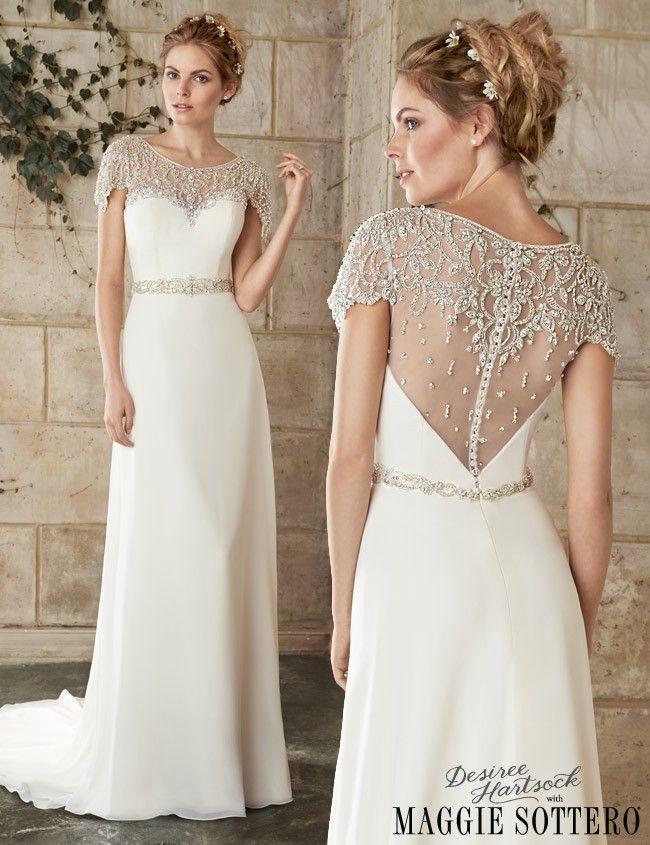 Friday Favorite Jeweled Cap Sleeve Wedding Dress