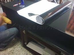 Envelopamento Adesivo De Rack Black Piano Realizado Em Belo