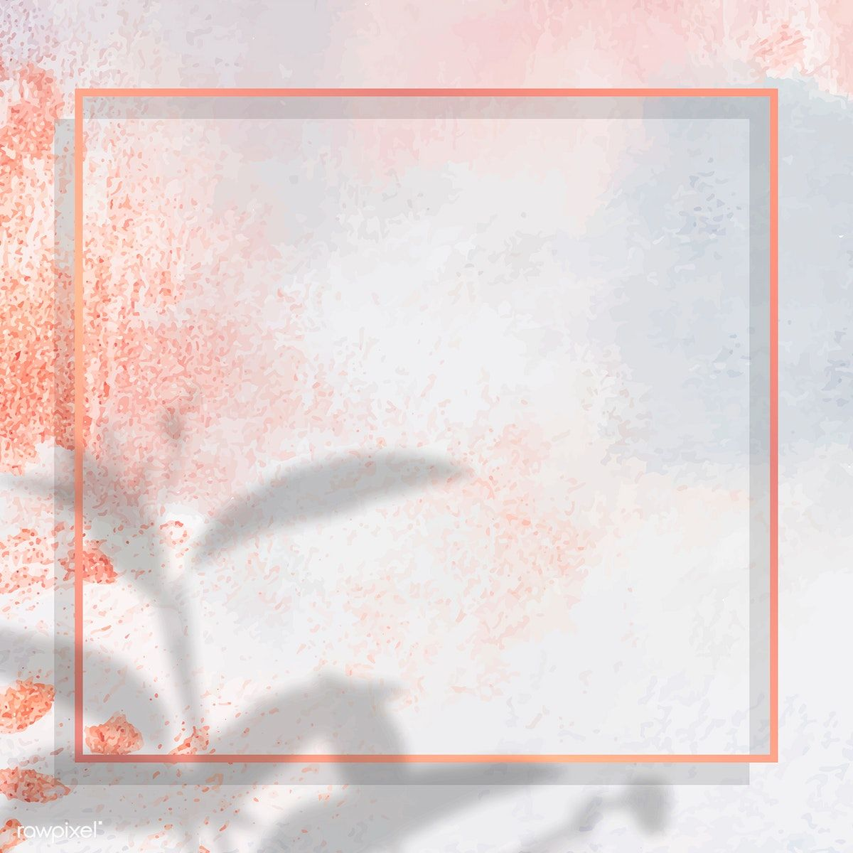 Download Premium Vector Of Square Gold Frame On Shadowed Pastel Paint Pastel Painting Paint Background Instagram Frame Template
