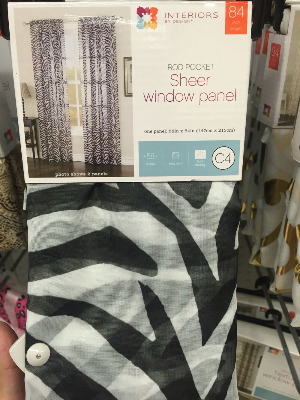 Zebra Print Sheer Curtains For The Window Safari Theme Sells At
