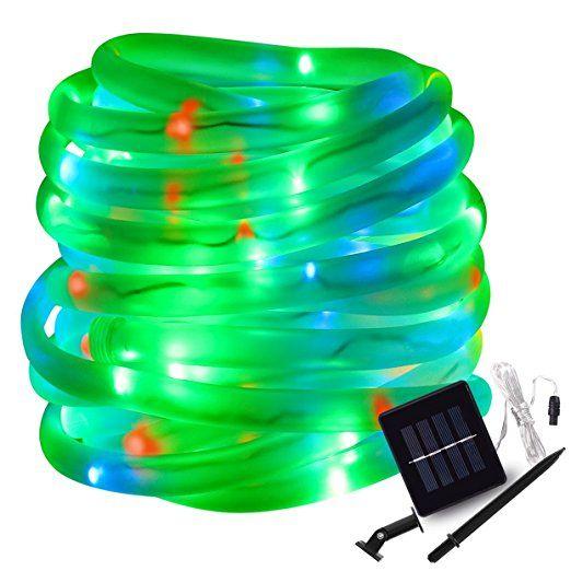 Lte solar rgb rope lights 100 led 8 lighting modes 33ft lte solar rgb rope lights 100 led 8 lighting modes 33ft outdoor aloadofball Images
