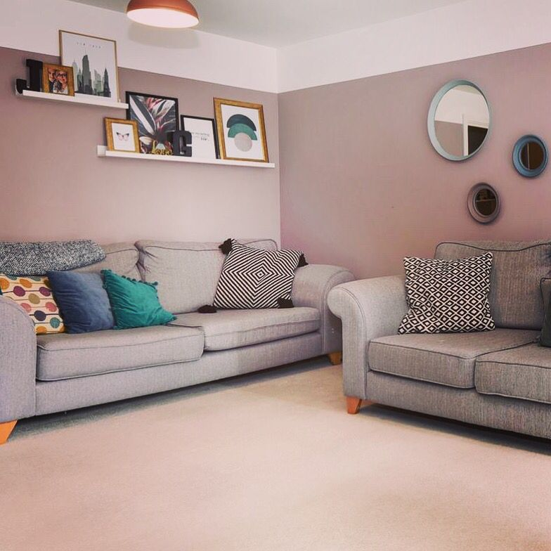 A Dusky Pink And Grey Living Room Combination Dulux Inviting Home