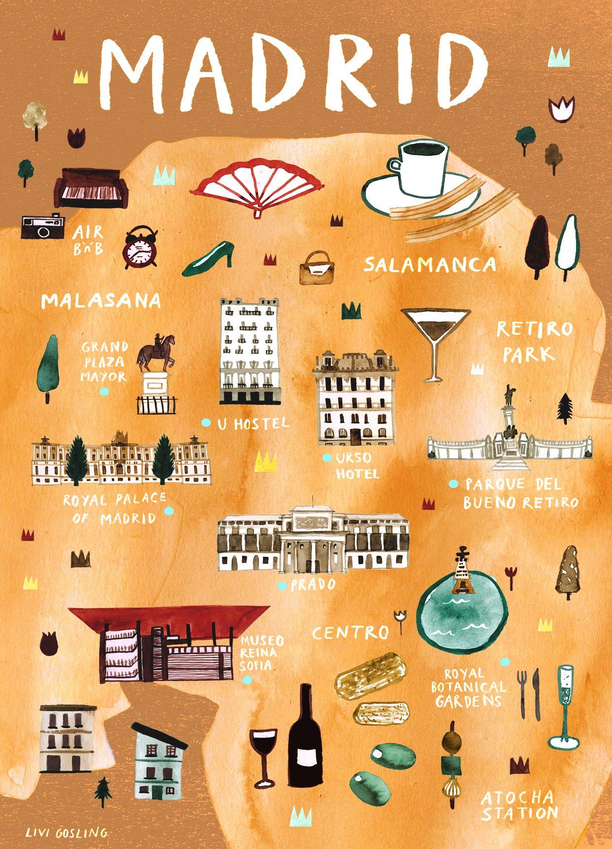 Madrid - España | Travel | Viajes, Mapas, España