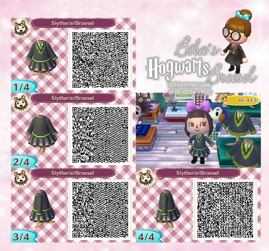 Dress Slytherin Hogwarts Broesel Animal Crossing Qr Codes Animal Crossing Hogwarts