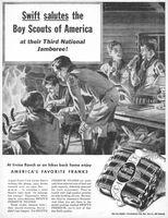 Swift's Premium Franks, Boy Scouts 1953 Ad Picture