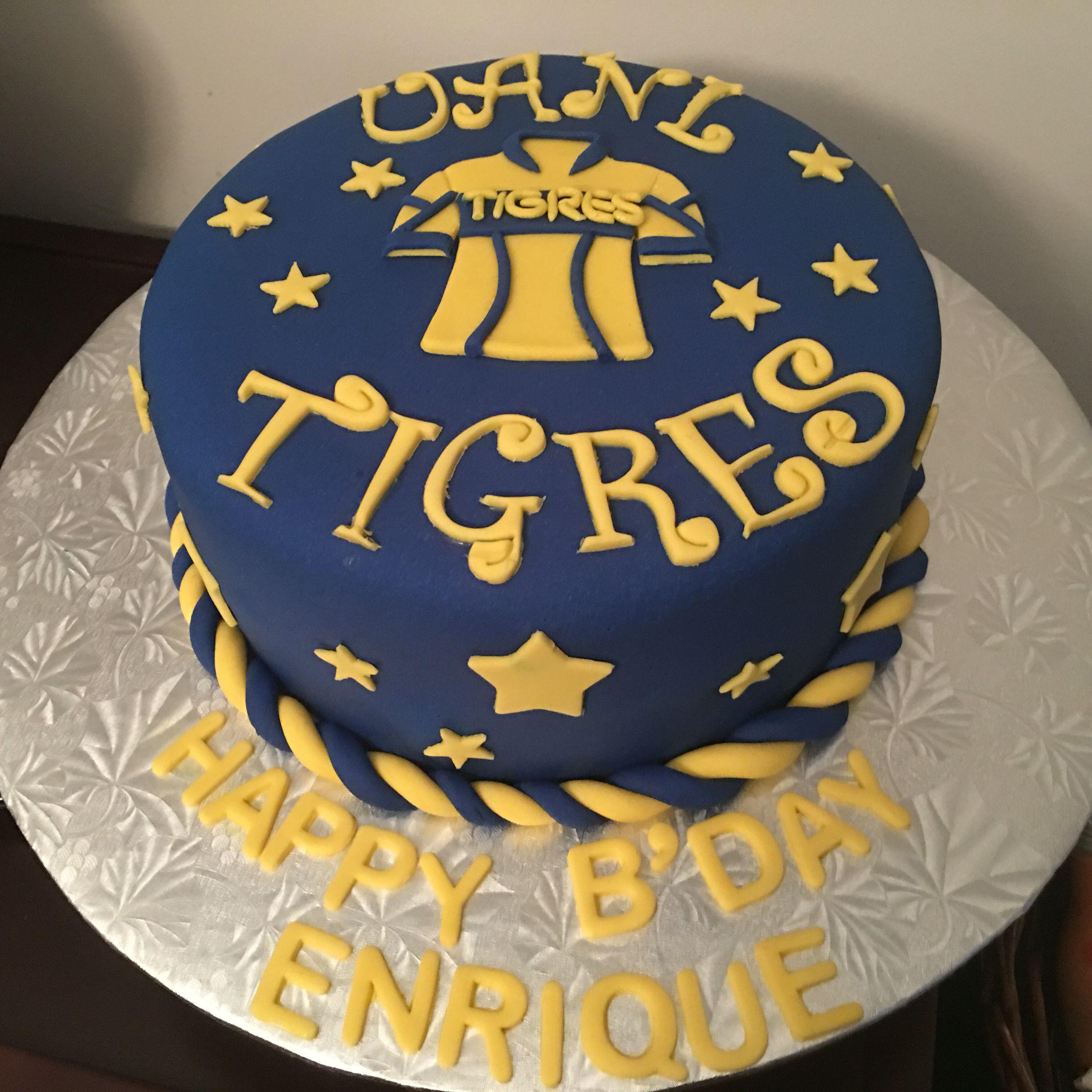 Tigres Uanl Cake Tigres Uanl Pinterest