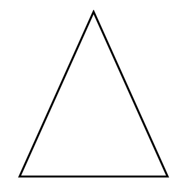 Crush image throughout printable triangle