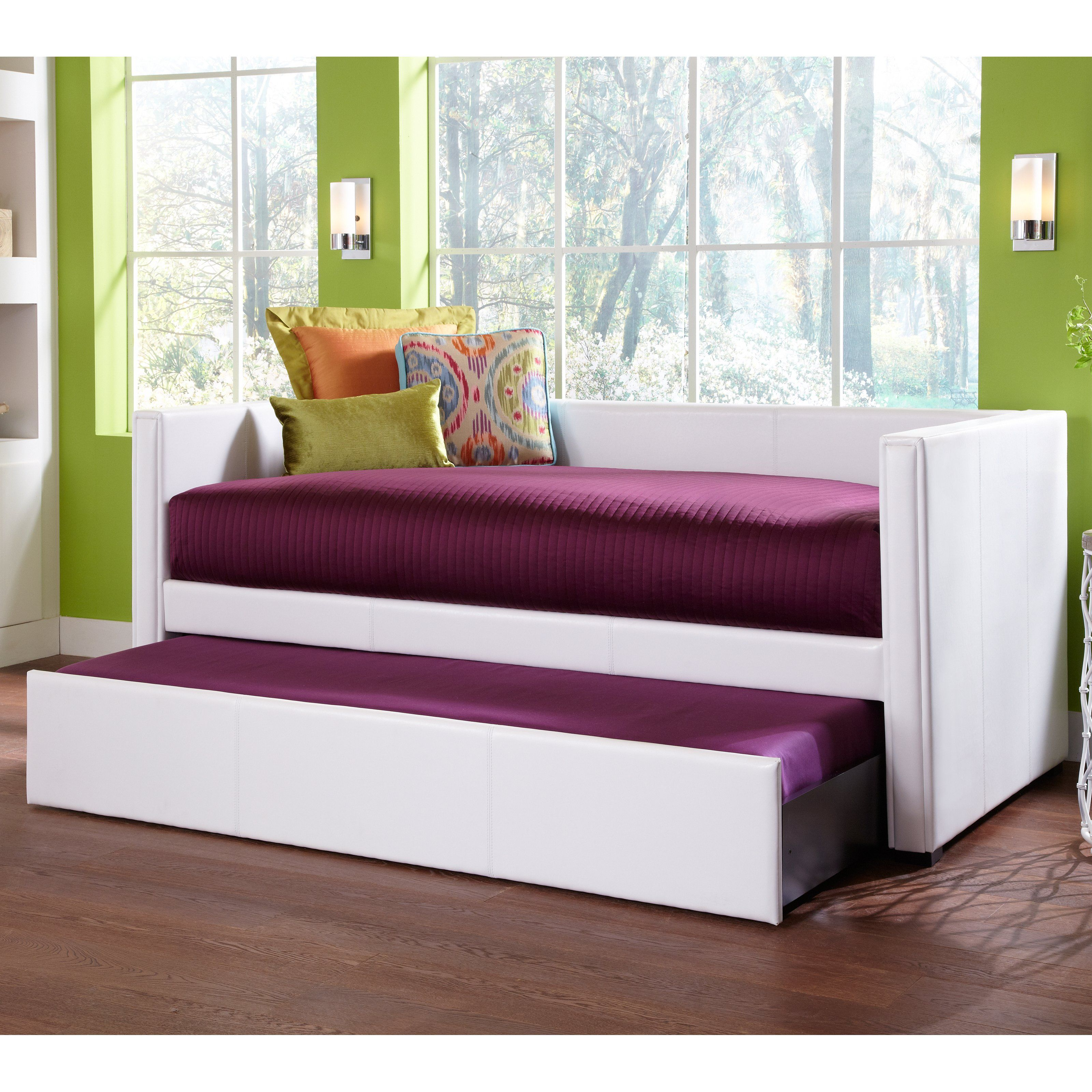 Euro Upholstered Daybed White