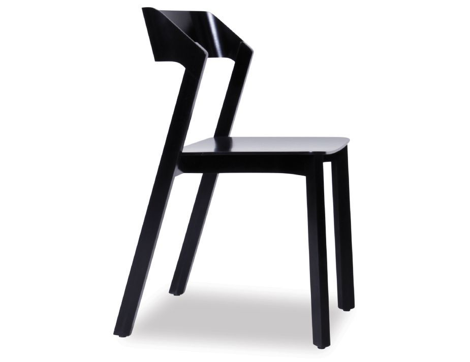 Ton sedie ~ Merano black stained beechwood dining chair by alex gufler for ton
