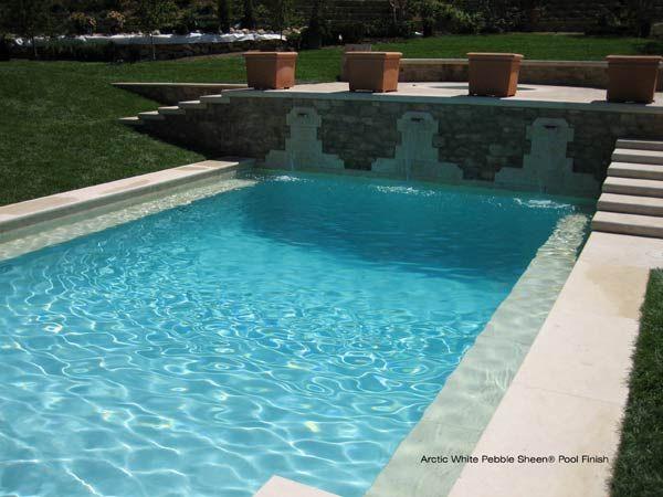 Pebble Sheen Arctic White Florida Pool Pool Colors Cool Pools