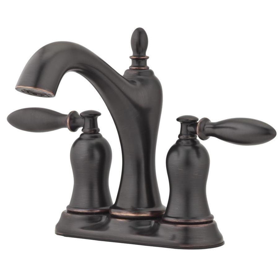 Pfister Arlington Tuscan Bronze 2-Handle 4-in Centerset WaterSense ...