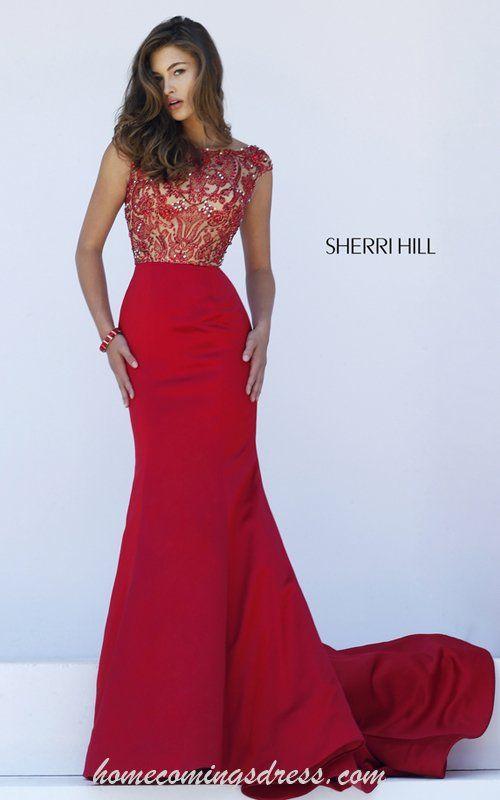 Beads Sherri Hill 32358 Beads Mermaid Red Carpet Dress 2016