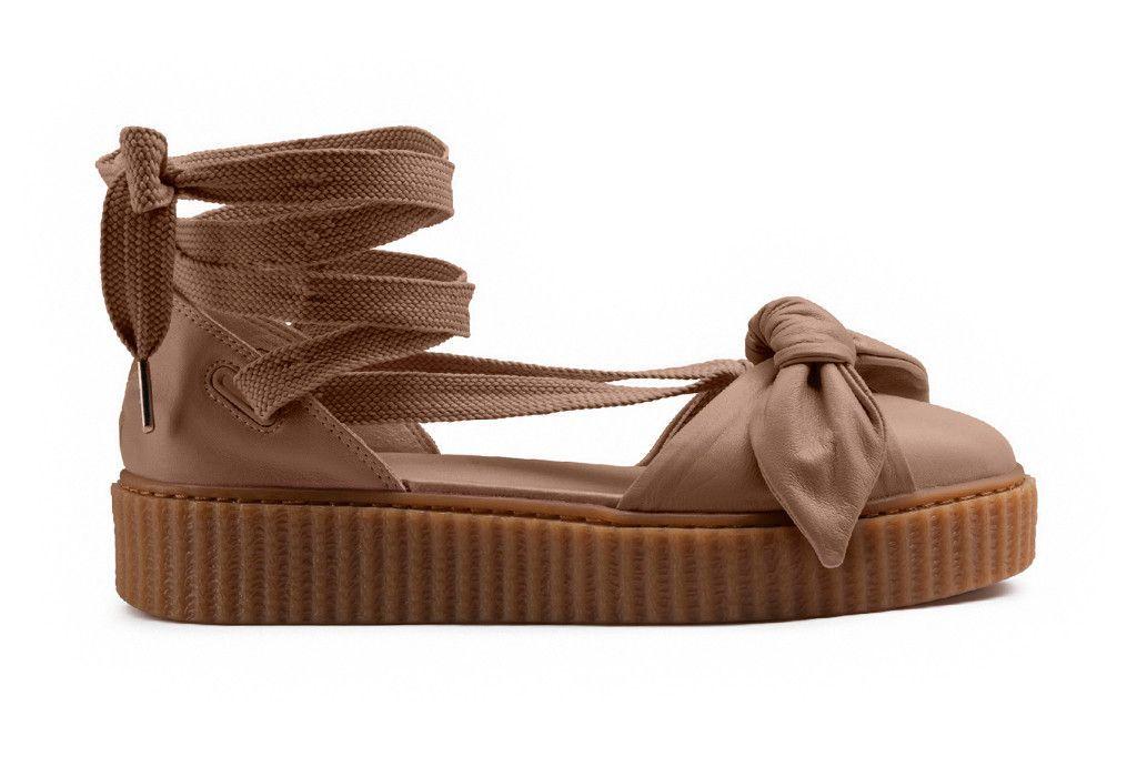 c6387dd2635d79 Puma x Rihanna Women s Fenty Bow Creeper Sandal - Natural Oatmeal ...