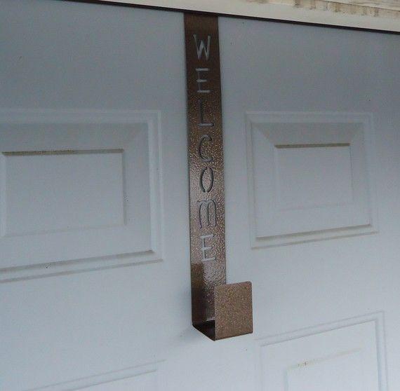 Door Welcome Wreath Hanger By KnobCreekMetalArts On Etsy