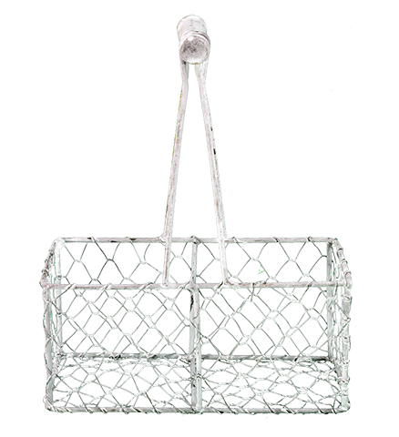 TGA54917 White Mesh Basket, 7.5 in. x 4. in. x 9.5 in.
