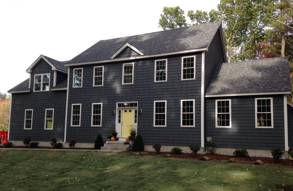 Regatta Blue By Exterior Portfolio Blue Siding House Siding Colonial Revival