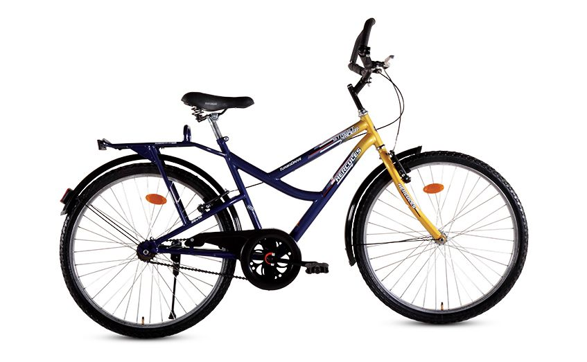 """STREET RIDER 24"""" makes the ride more enjoyable and ease to use. Street Rider is a medium step through bike with attractive dual tone lacquer color, V-brake with alloy lever, comfy saddle, Turbodrive and integrated carrier."""