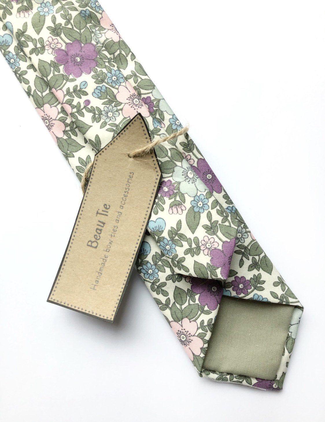 Mens Purple Lavender Lilac Floral Mens Tie Men S Tie Wedding Ties Necktie For Men 249tc Gift Box Floral Bow Tie Bow Tie Wedding Wedding Ties