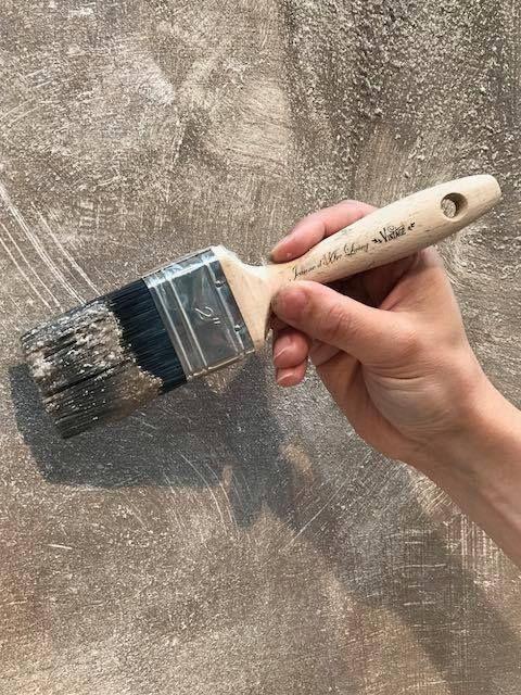 in 2 stappen een betonlook muur - Betonlook-verf-betonlook-muur ...