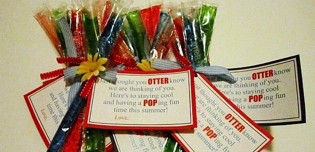 summer otter pop free printable