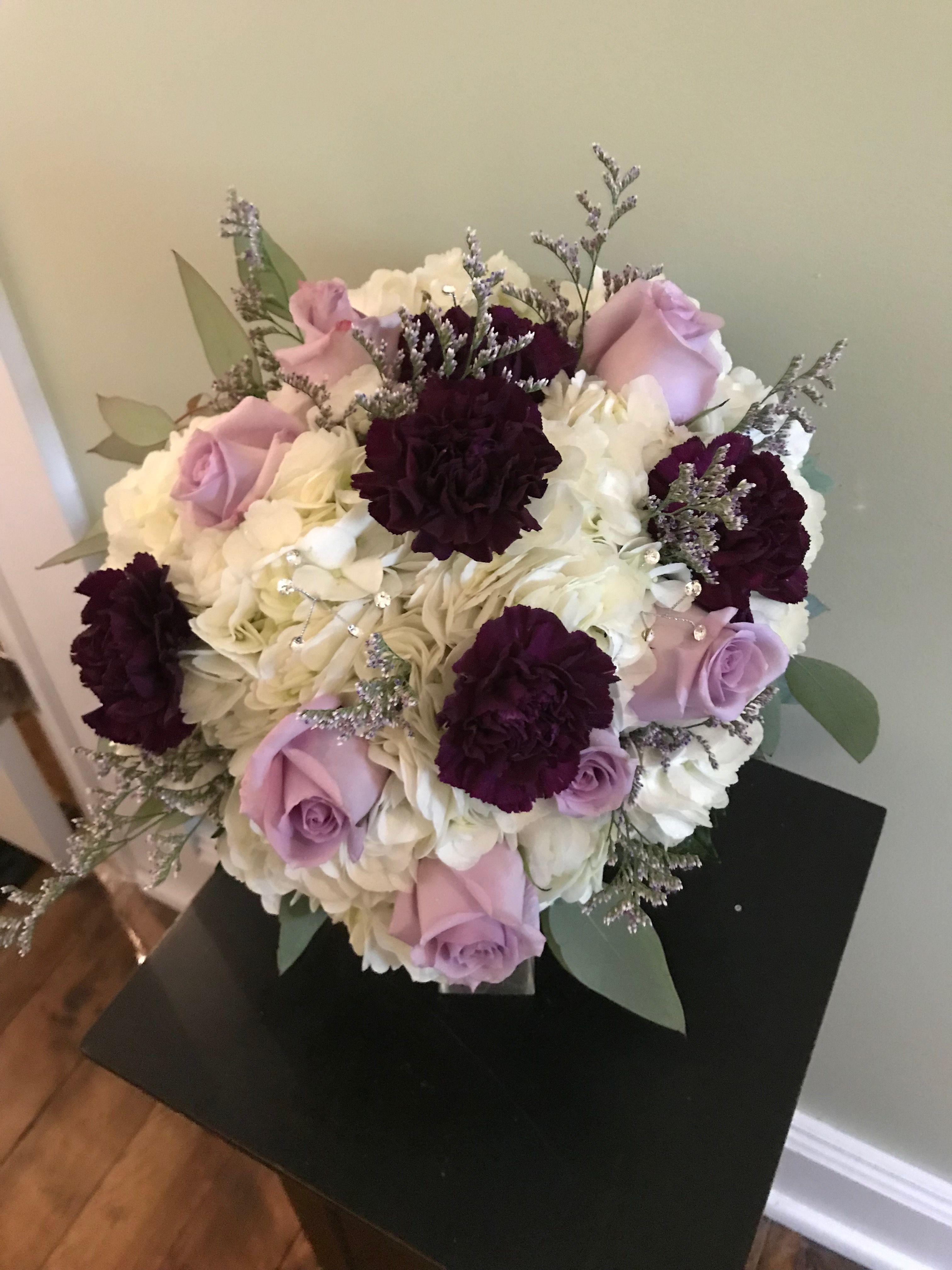Lilac Rose Caspia Purple Carnation Purple Bouquet Purple Carnations Purple Bouquet Lilac Roses