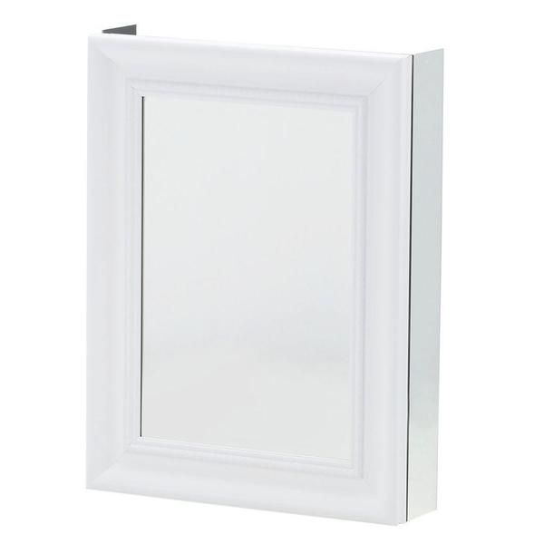 Pegasus 20 Inch X 26 Mirrored Recessed Or Surface Mount Medicine Cabinet With Framed Door In White