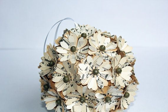 Music Note Paper Flower Bouquet