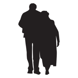 Couple Walking Together Silhouette Silhouette Silhouette Png Silhouette Drawing