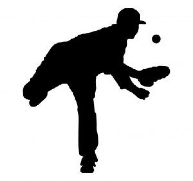 Silueta de jugador de béisbol. | Cricut | Pinterest | Jugadores de ...