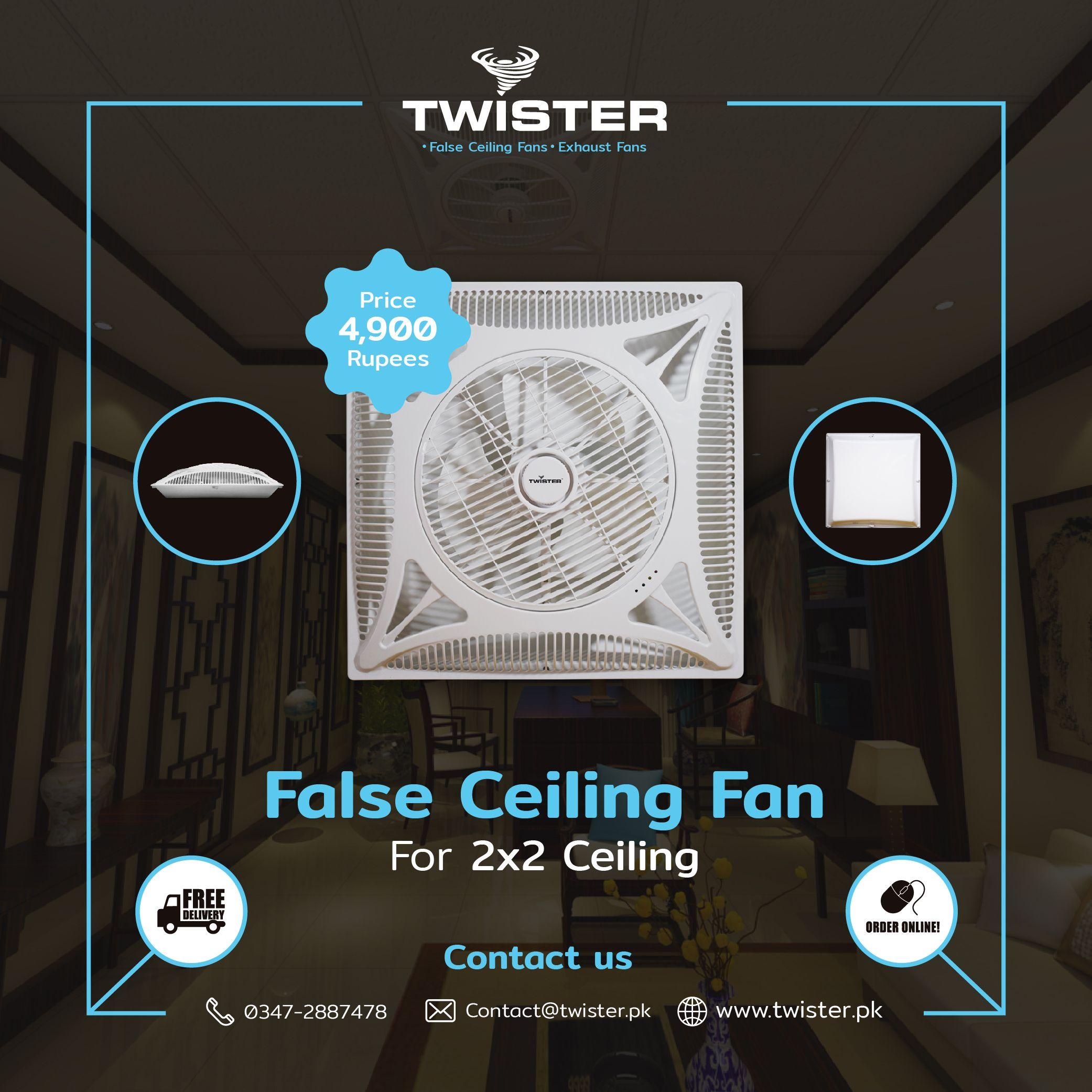 Twister Super Slim False Ceiling Fan 14 Price 4 900 Free