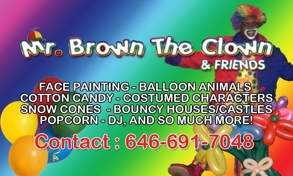 Mr. Brown the Clown, Brooklyn NY | Business Cards (Custom Designed ...