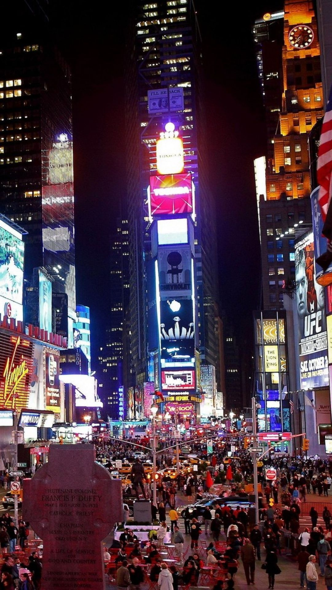 Hd background new york city manhattan times square street night hd background new york city manhattan times square street night voltagebd Image collections