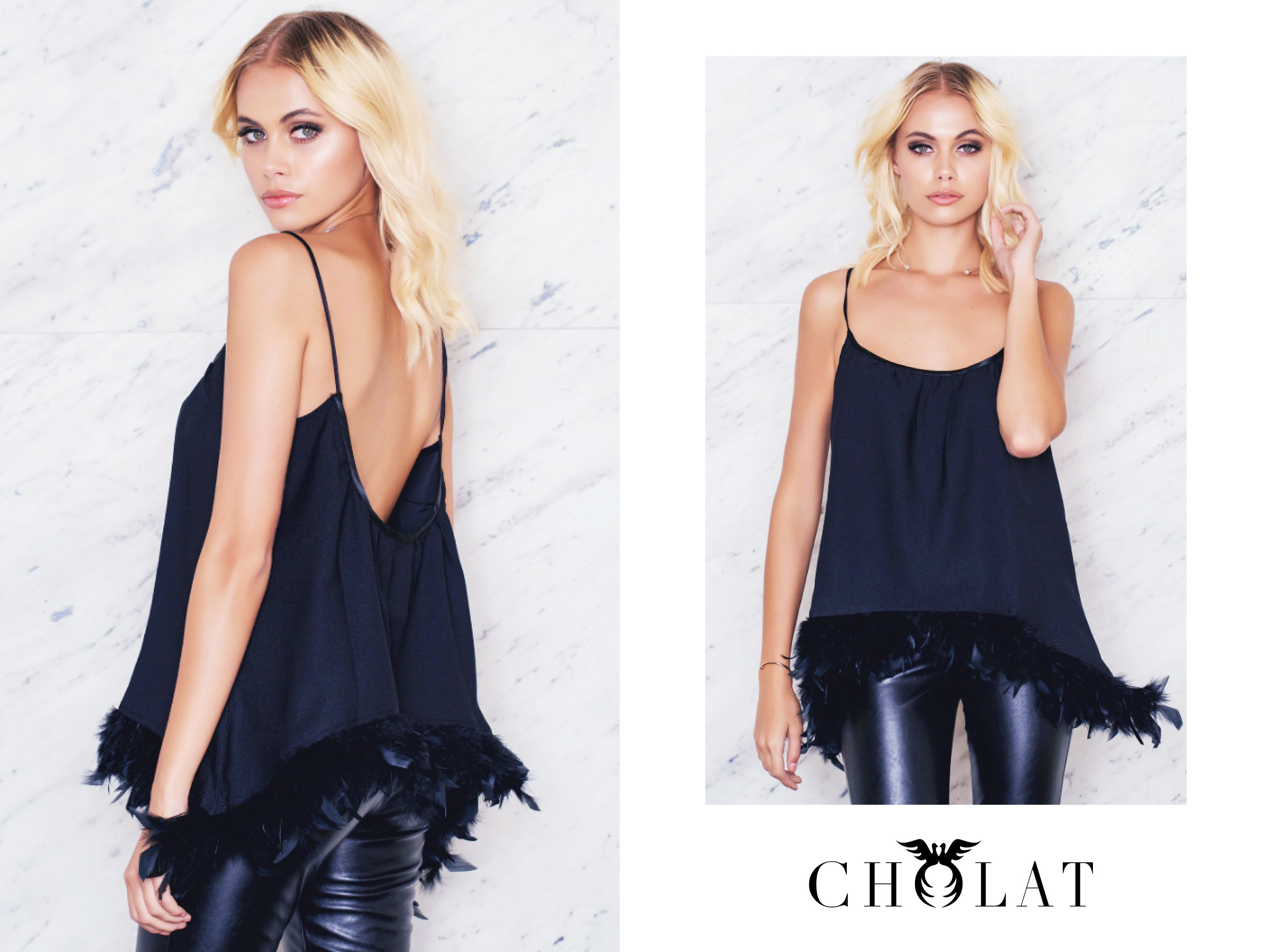 Dust Feather Top <3 https://cholatparis.com/products/rombo-top-feather-black