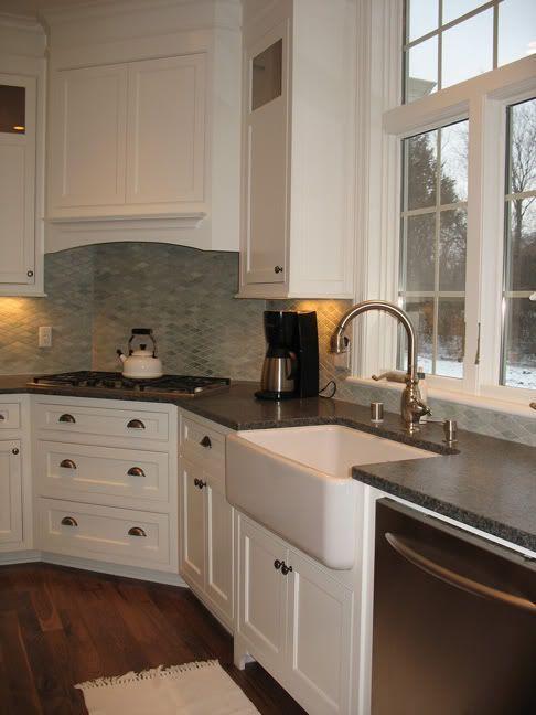 Image result for kitchen cabinets next to corner range cooktop ...