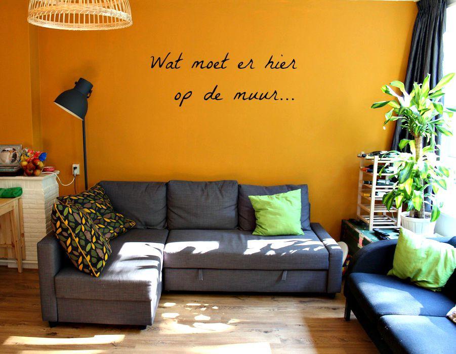 Wat moet er op de muur  Eclectic Home  2019  Gele muren