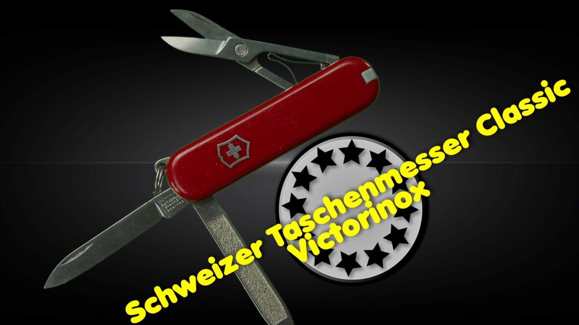 Victorinox Schweizer Taschenmesser Classic sehr klein Länge: 58 mm, Schalen: Cellidor Klinge, Nagelfeile mit Nagelreiniger Schere, Ring, Inox Pinzette, Zahnstocher http://www.mychannel2016hd.de