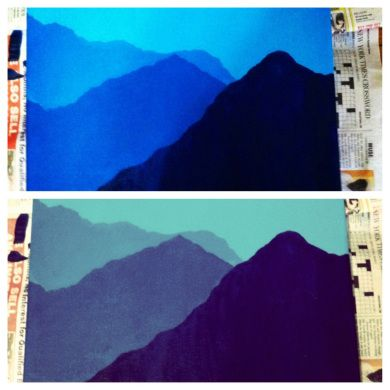 Mountain painting