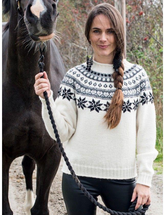 M30 01 Ribbestrikket genser | Du Store Alpakka