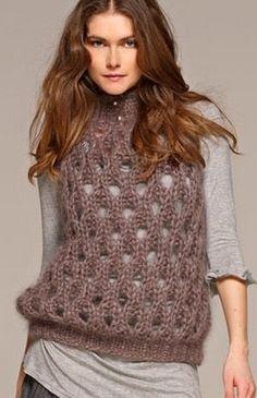 Вязание свитер и жилета