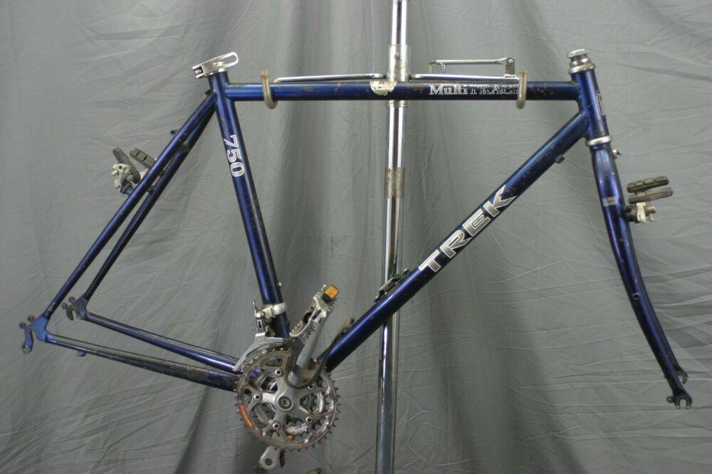 Trek 520 750 Steel Touring Bike Frame Cross True Temper Ox Usa Made 53cm Charity Trek Touring Bike Bike Frame Touring