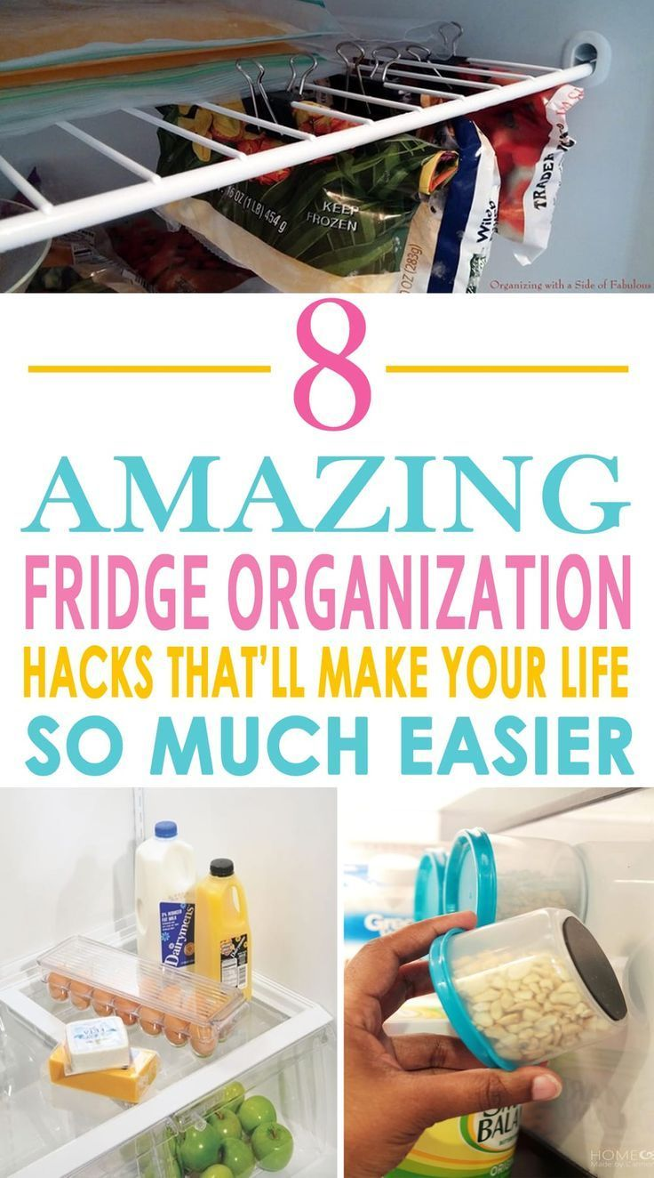 8 Amazing Fridge Organization Hacks That'll Make Your Life So Much Easier is part of Organization Bedroom Hacks - Your fridge along with your kitchen is surely one of the most used places at home  And it is because of this regular, nonstop use that they are vulnerable of…