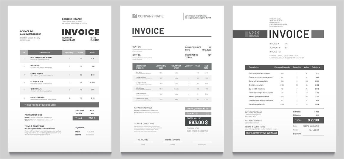 Invoices Templates Price Receipt Payment Agreement And Invoice Bill By Tartila Thehungry Social Media Marketing Facebook Invoice Template Facebook Marketing