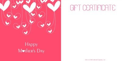 Free Printable Gift Certificates Templates Mother's Day Gift Certificate Templates  Mother's Day  Pinterest .