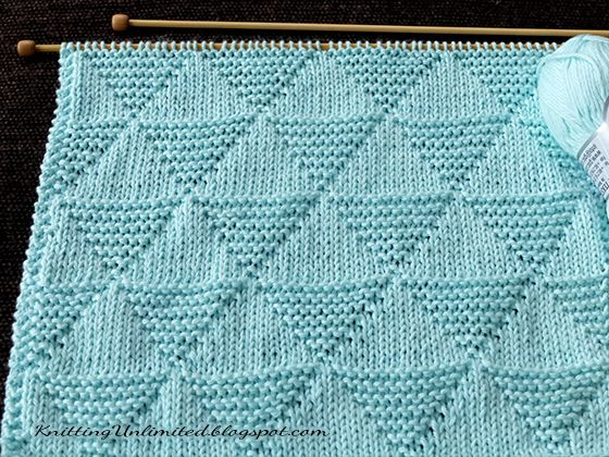 Just Knit and Purl. Stockinette and Garter Triangle. I think it's perfect for a…