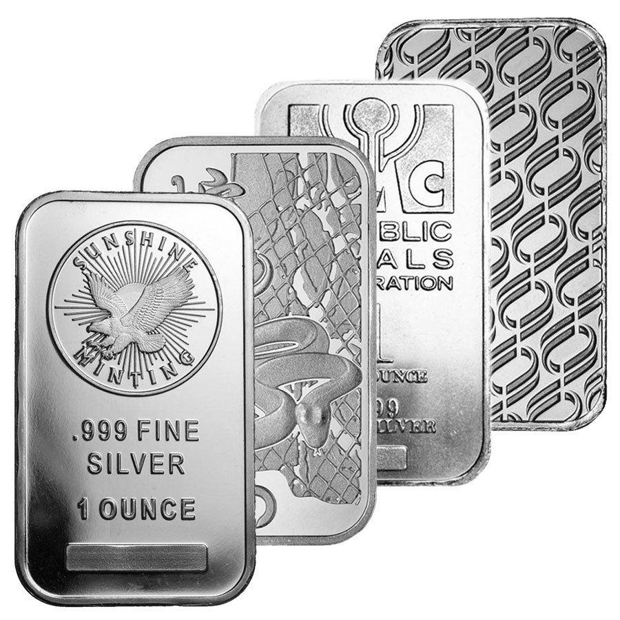 1 Oz Silver Bar Design Varies Bullion Shark In 2020 Silver Bars Bar Design Silver