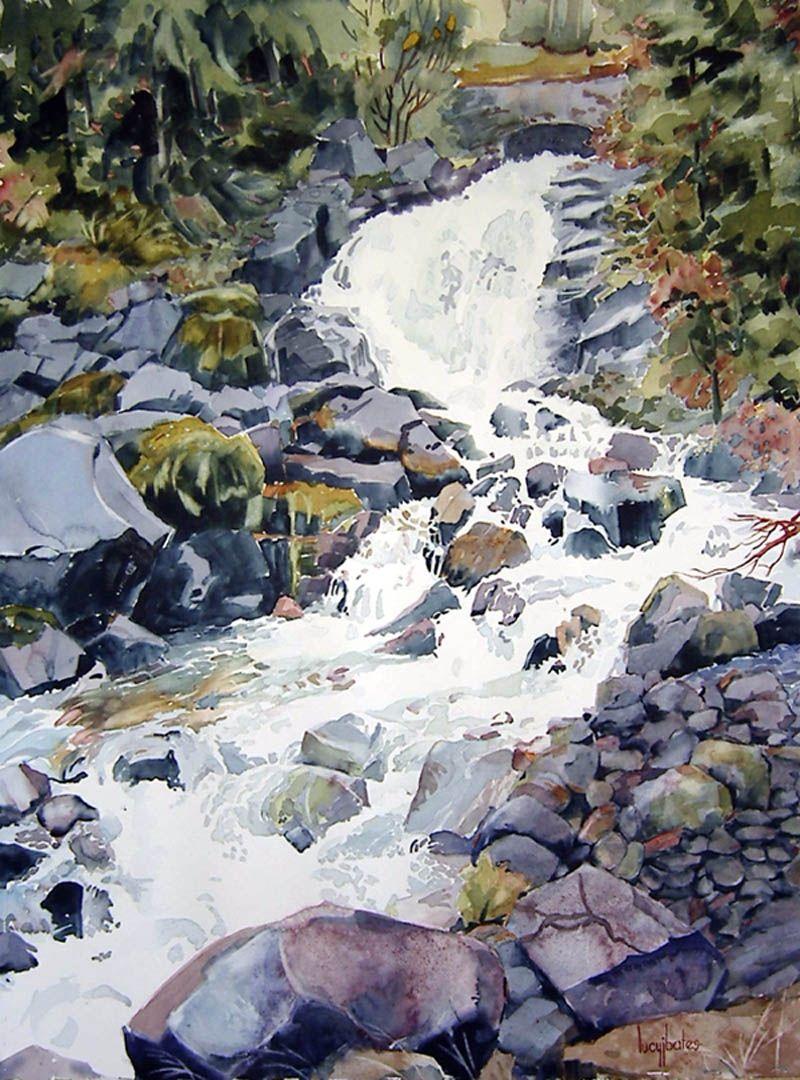 Lucy Bates Watercolor Paysage Aquarelle Peinture Acrilique