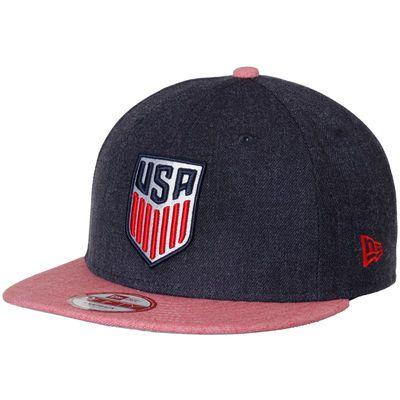 Us Soccer New Era Heather Action 9fifty Adjustable Snapback Hat Navy Red Snapback Hats Us Soccer Hats
