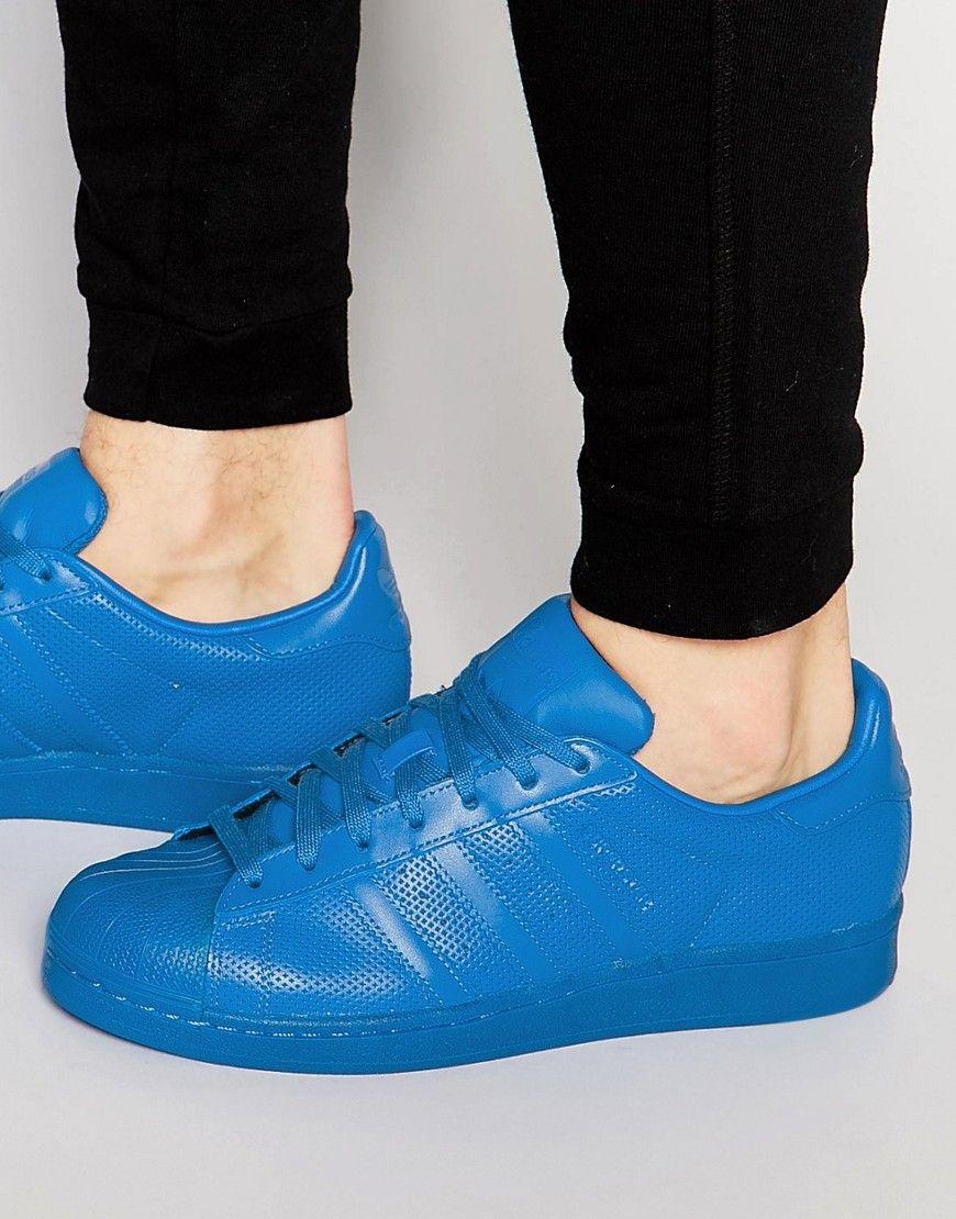 adidas+Originals+Superstar+adicolor+Trainers+In+Blue+S80327