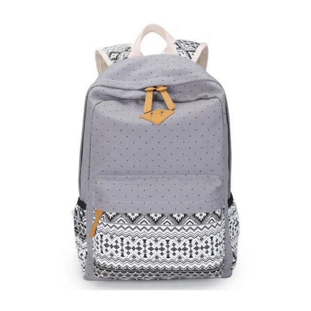 30d01f13969c 3 PCS Vintage School Bags for Girls Kids Bag Canvas Backpack Women Bagpack  Children Backpacks Dot Shoulder ...