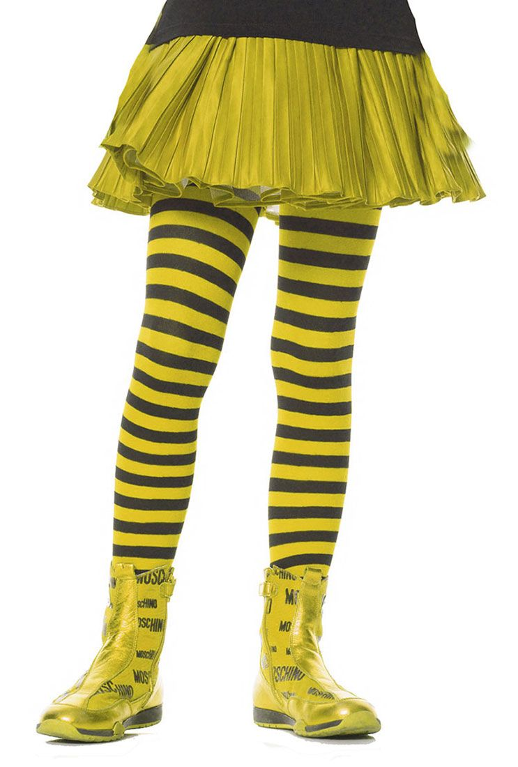 8af4576682e0f Girls Black And Yellow Striped Tights Product Description These Girls Black  and Yellow Striped Tights are an essential accessory for your Bumblebee  Costume!